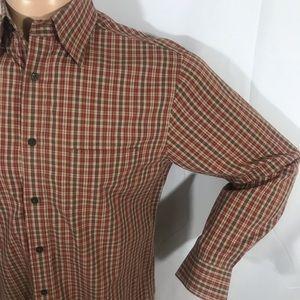 Nordstrom Plaid Long Sleeve Shirt Medium Cotton